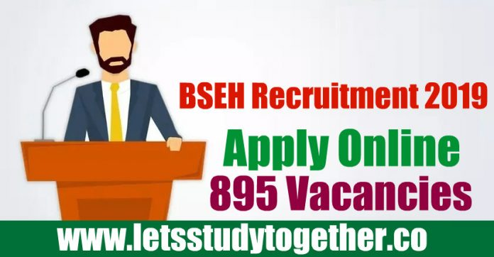 BSEH Recruitment 2019 - Apply Online 895 Principal, TGT, PGT Vacancies