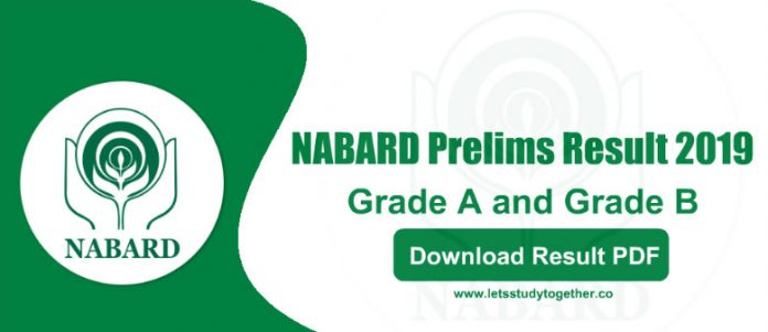 NABARD Prelims Result for Grade A and Grade B 2019 - Check Result PDF