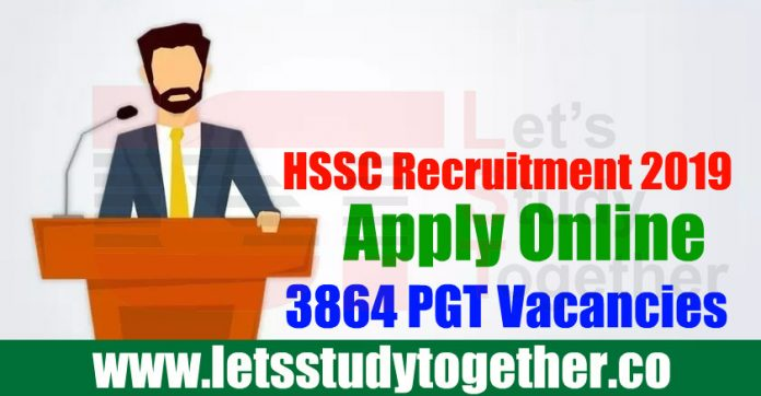 HSSC Recruitment 2019 - Apply Online 3864 PGT Vacancies