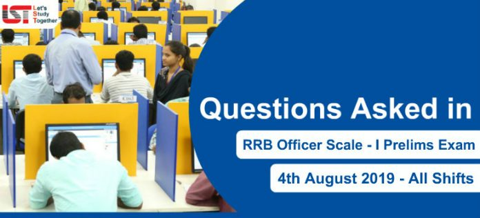 Questions Asked in IBPS RRB PO Prelims Held on 4th August 2019