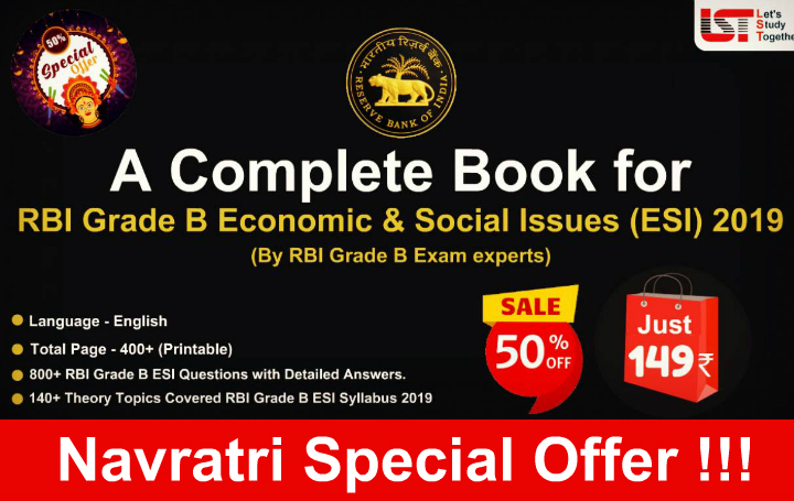 A Complete Book for RBI Grade B Economic & Social Issues (ESI) 2019