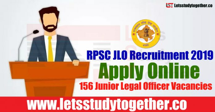 RPSC JLO Recruitment 2019 - Apply Online 156 Junior Legal Officer Vacancies