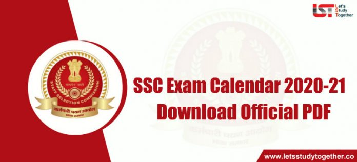SSC Exam Calendar 2020-21 Out: Download PDF Here