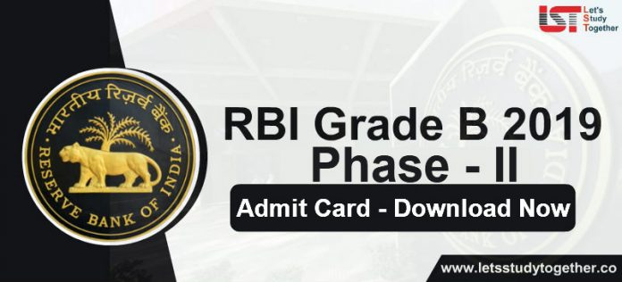 RBI Grade B Mains Admit Card 2019 Out Now - Download Hall Ticket