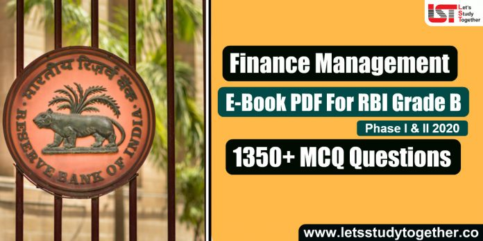 A Complete Book for RBI Grade B Finance & Management (FM) 2020 - 1350+ Questions with Detailed Answers