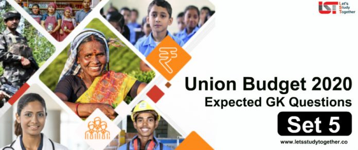 Expected GK Questions From Union Budget 2020 With Answers | Set- 5