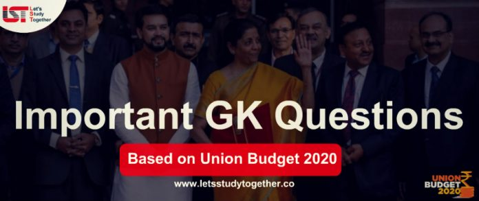Important GK Questions Based On Union Budget 2020 | Set- 7