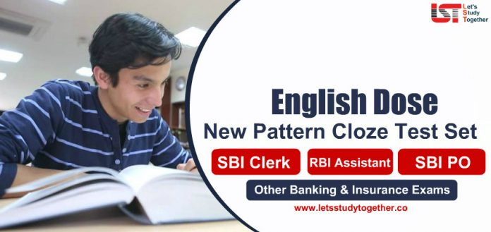 English Language Cloze Test Questions for Banking & Insurance Exams 2020