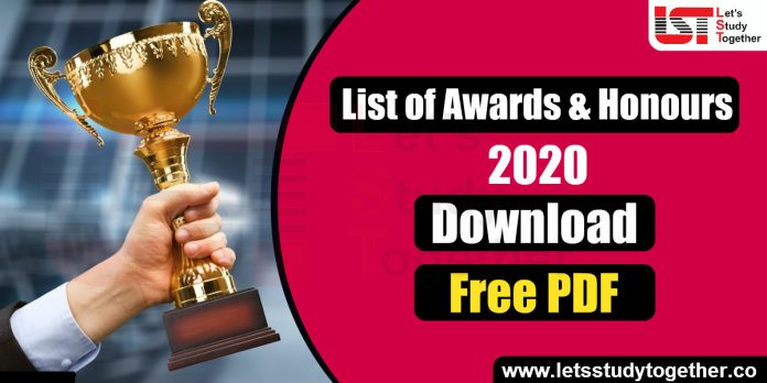 List of Important Awards and Honours 2020 - Download Free PDF
