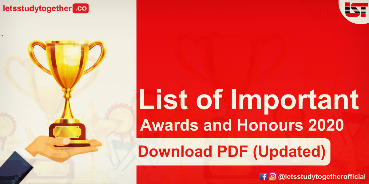 List of Important Awards and Honours 2020 (Updated) - Download Free PDF