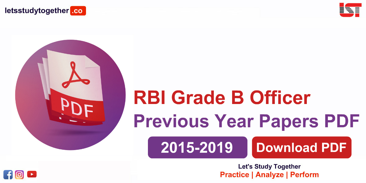 RBI Grade B Previous Year Papers PDF (2015-2019) – Download Free Now