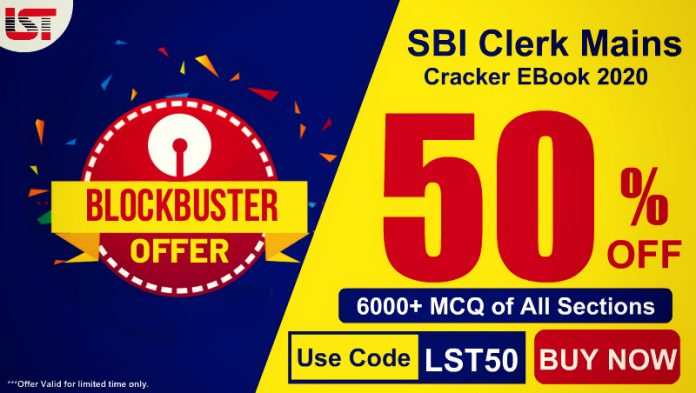 SBI Clerk Mains 2020 Cracker E-Book ( Special Edition) – 6000+ Questions with Detailed Answers of All Subjects