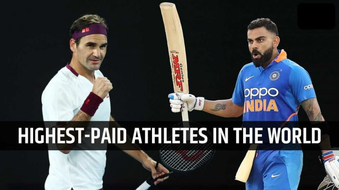 Virat Kohli Only cricketer in Forbes' 2020 highest-paid athletes, Roger Federer Tops List