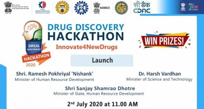 Union HRD Minister and Union Health Minister jointly launch the Drug Discovery Hackathon 2020 (DDH2020)