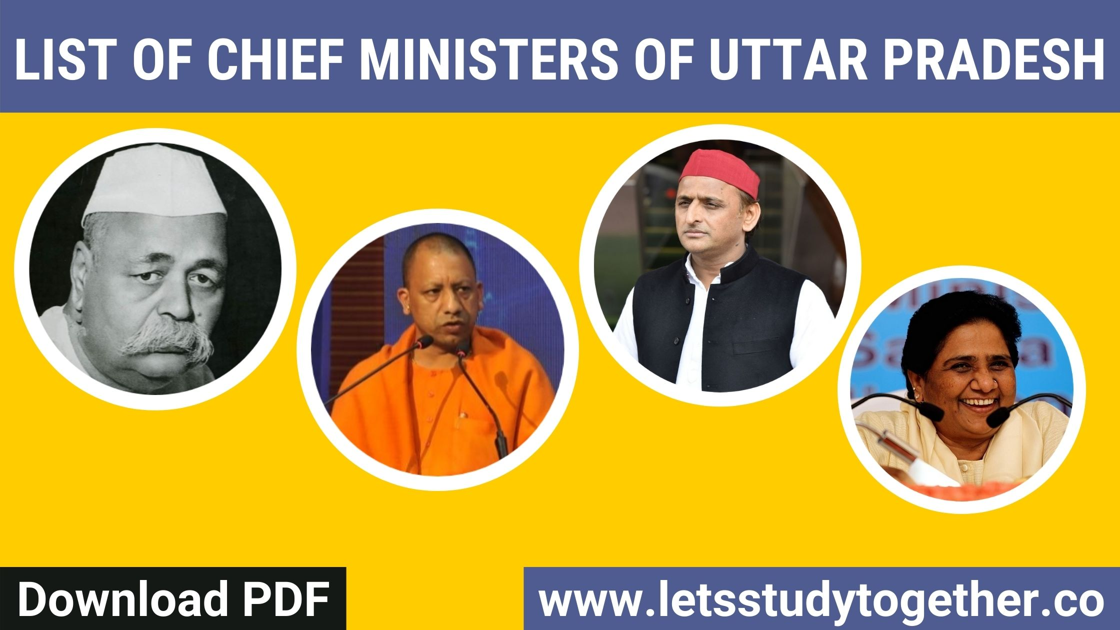 List of Chief Ministers of Uttar Pradesh - Download PDF