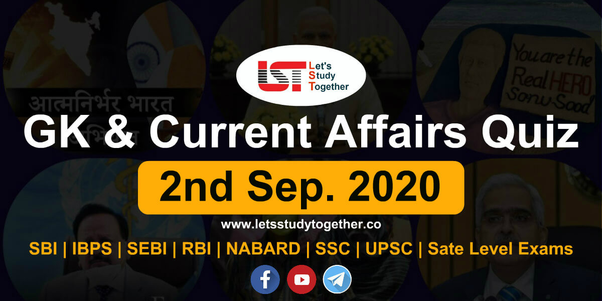 Daily GK and Current Affairs Quiz - 2nd September 2020