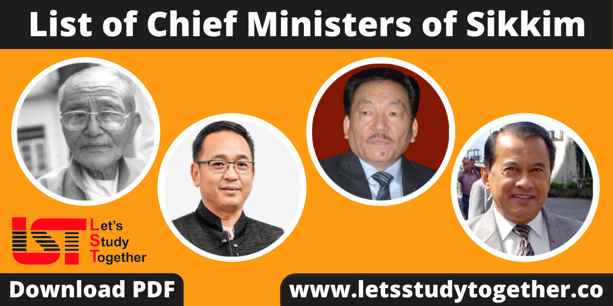 List of Chief Ministers of Sikkim (1975-2020)