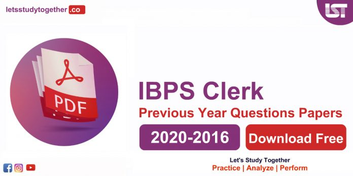 IBPS Clerk Previous Year Questions Papers PDF