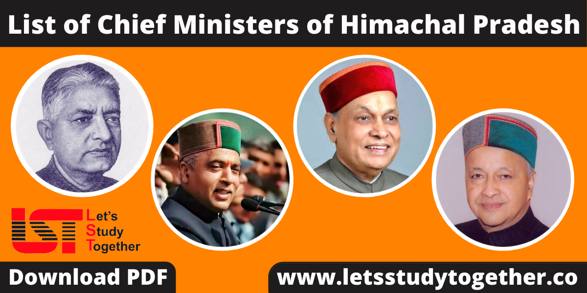 List of Chief Ministers of Himachal Pradesh