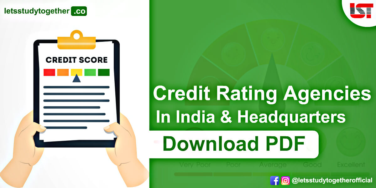 List of Credit Rating Agencies in India and Headquarters – Download PDF