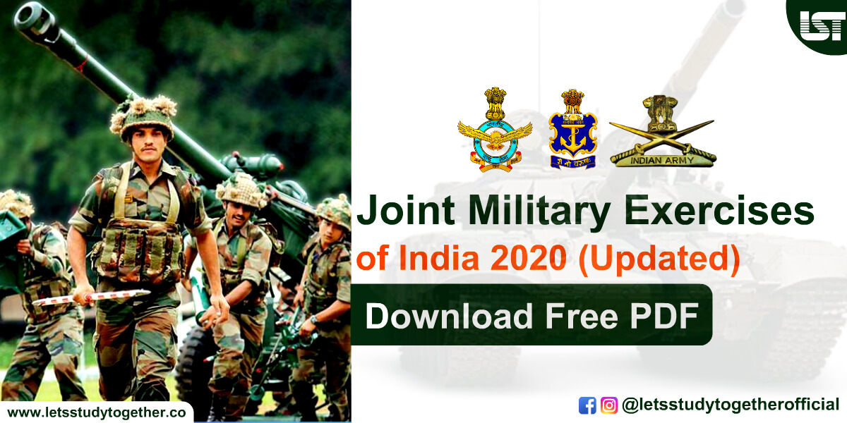 List of Joint Military Exercises of India 2020 (Updated) – Download Free PDF