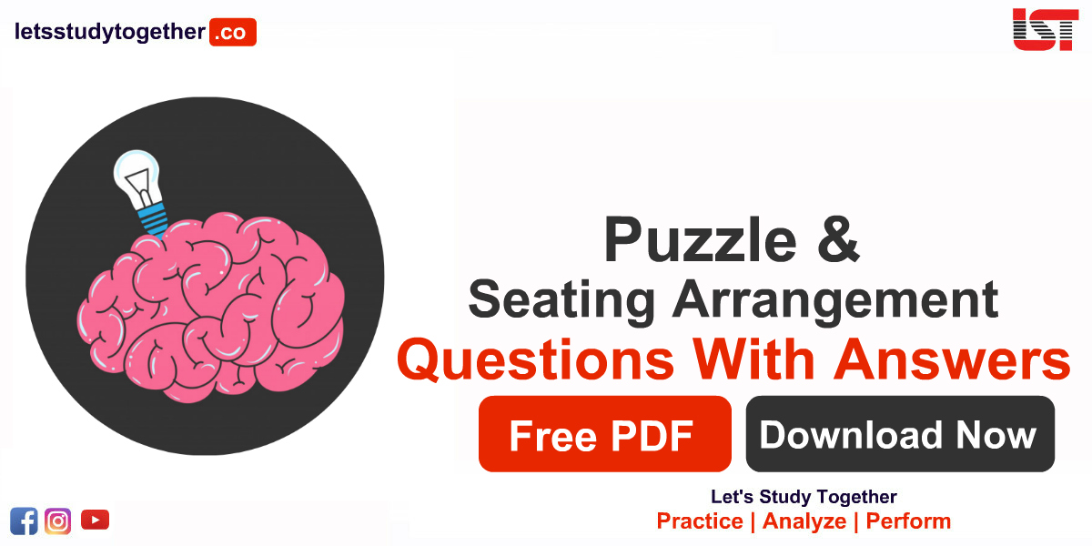 Puzzle and Seating Arrangement PDF With Solutions