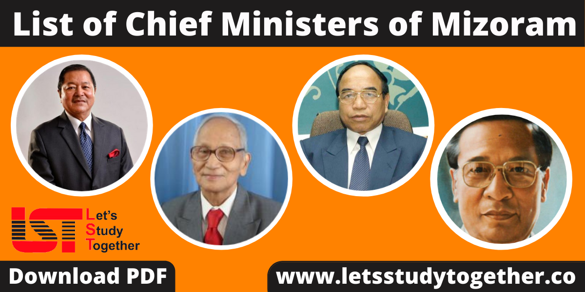 List of Chief Ministers of Mizoram (1972-2023) – Download PDF