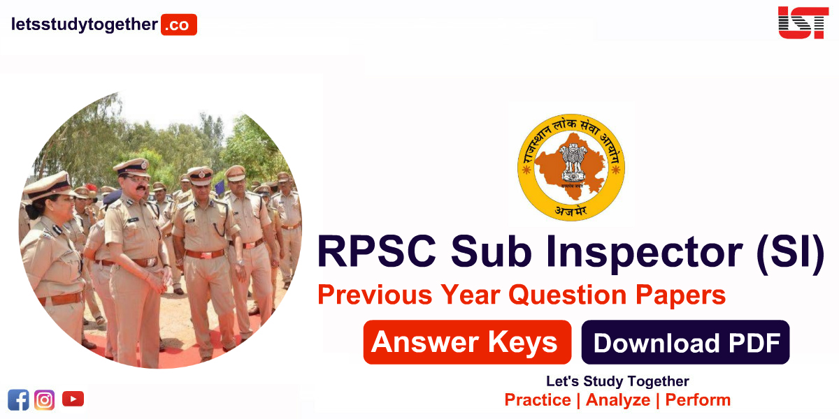 RPSC Sub Inspector (SI) Previous Year Question Papers
