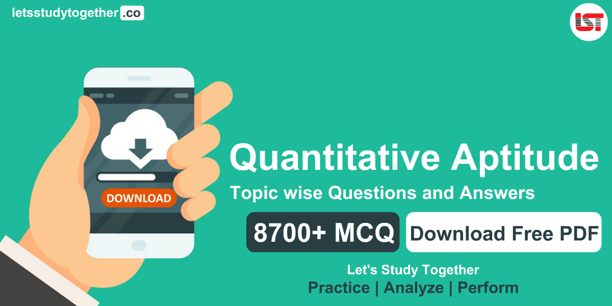 Quantitative Aptitude Topic wise Questions and Answers PDF Download