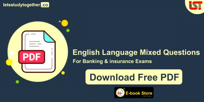 English Language Mixed Questions PDF for Banking Exams