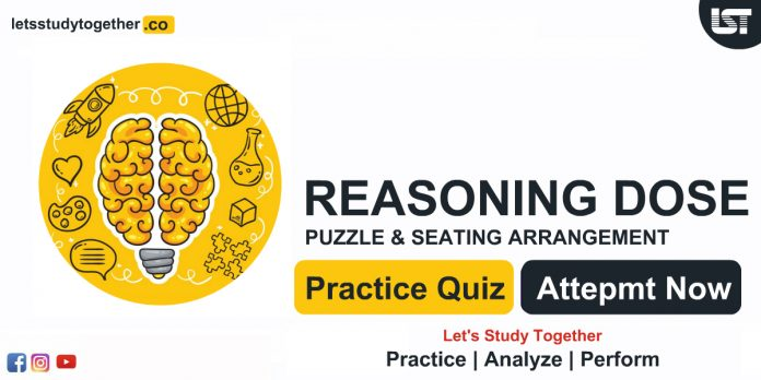 Reasoning Puzzle Questions with Answers for Bank PO exams
