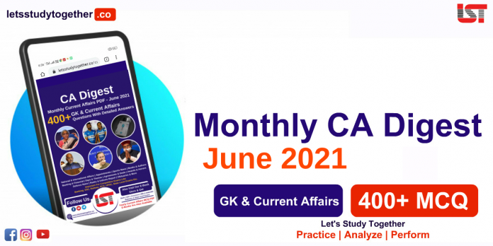 Monthly Current Affairs PDF June 2021 - Download Now