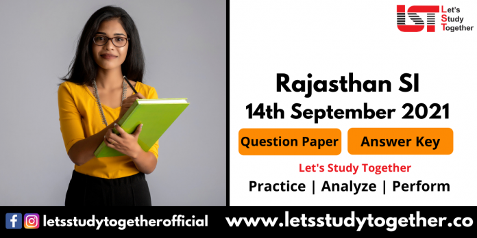 RPSC Sub Inspector (SI) Question Paper PDF 14th Sept 2021